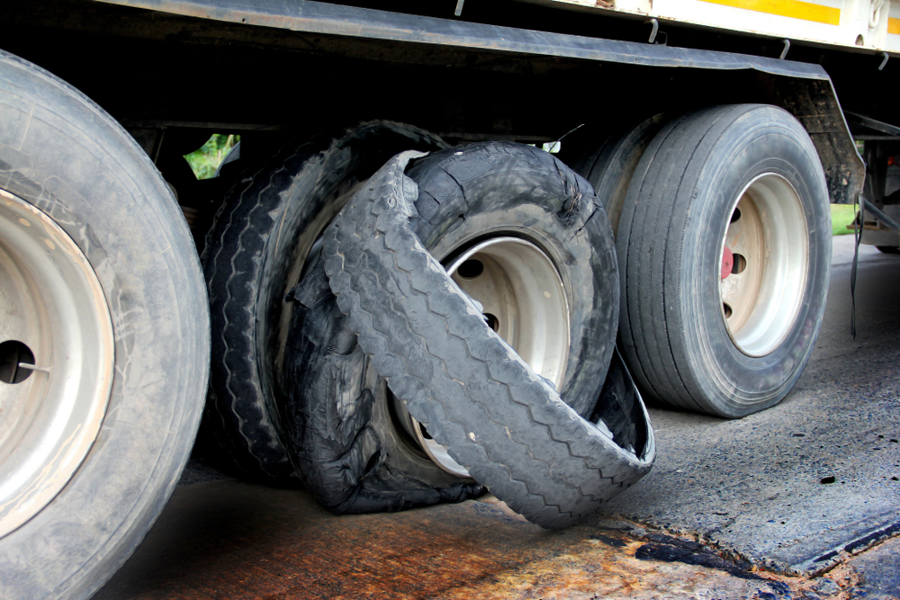 Truck Tire Blowout Crashes
